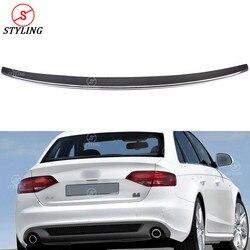 B8 spojler z włókna węglowego S4 styl dla Audi A4 zderzak tylny trunk Spoiler skrzydło czarny błyszczący 2008 2009 2010 2011 2012