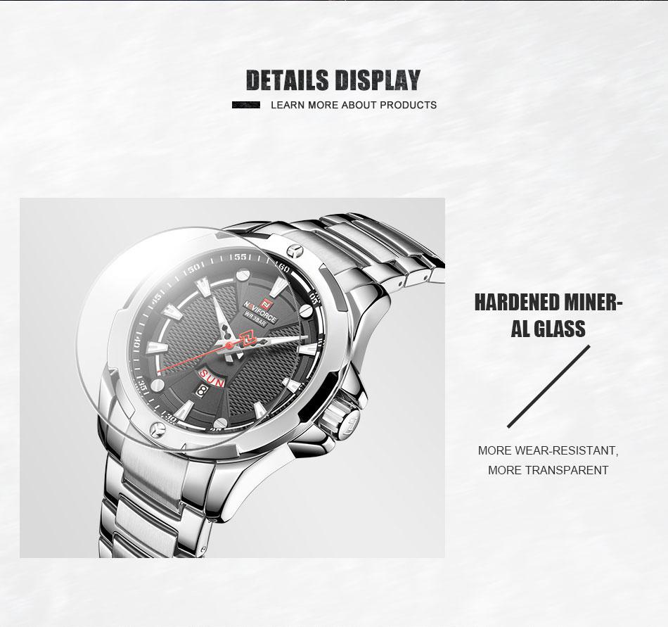 Hf595e2a8a1924194b2a506a67fc94866E Men's Watches Top Luxury Brand NAVIFORCE Analog Watch Men Stainless Steel Waterproof Quartz Wristwatch Date Relogio Masculino