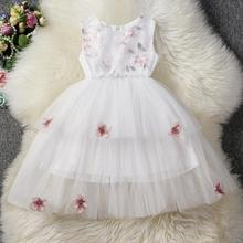 AmzBarley Girls Lace tutu Dress Toddler Floral Layered Dress sleeveless Cotton lining evening Gowns prom birthday party outfits цена и фото