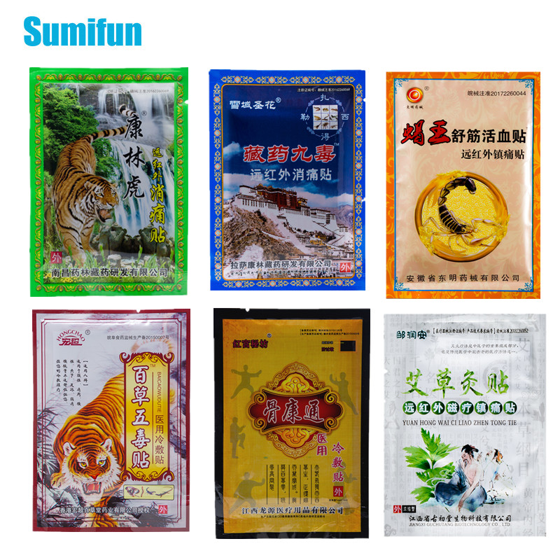 24pcs 6 Types of Joint Pain Relieving Patch Tiger Balm Scorpion Venom Medical Plaster Extract Knee Arthritis Sticker Health Care