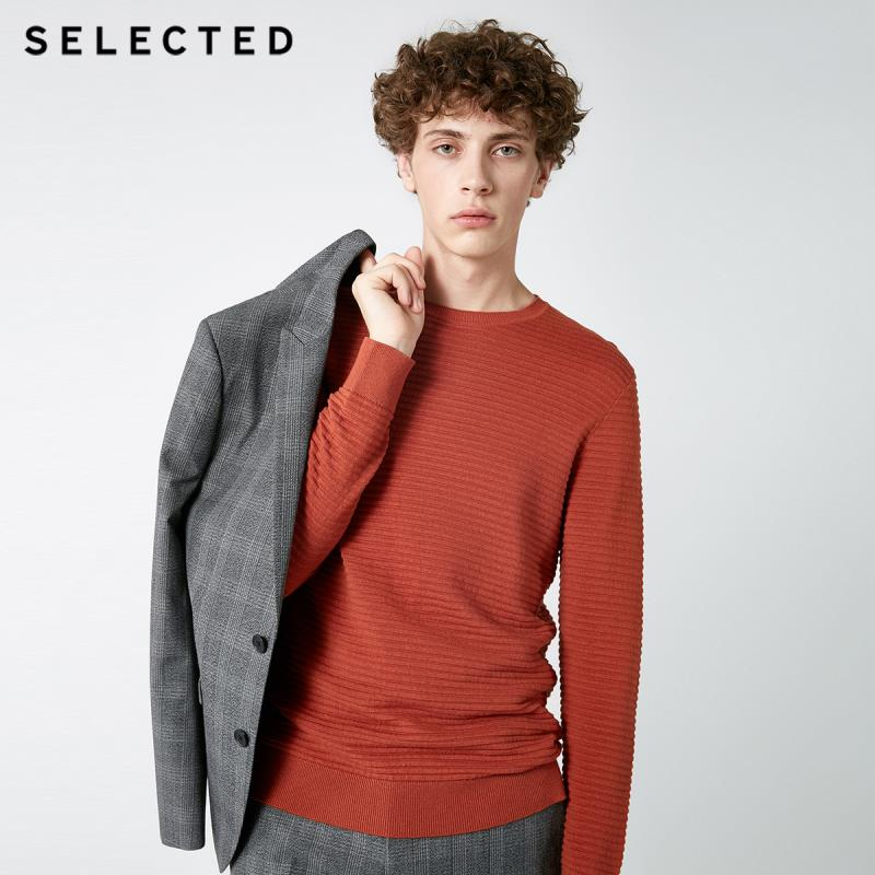 SELECTED New Men's Round-neck Pullover Knitted Cotton Business Casual Sweater Clothes S | 418324531
