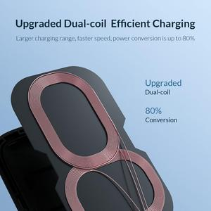 Image 4 - ORICO Qi Fast Wireless Charging Dock Station Mobile Phone Holde for iPhone X XS 8 Samsung Phone Charger With Receiver for Xiaomi