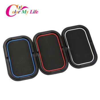 3D Car Phone Non-Slip Mat Support Holder Mounts GPS Mats for Toyota Corolla Rav4 Prado Camry C-HR for Honda Fit HR-V CR-V Civic image