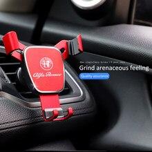 Novo estilo titular do telefone do carro gravidade sensing aperto automático suporte universal para alfa romeo 156 159 147 4c 8c 166 giulia giulietta