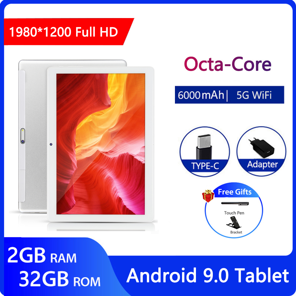 ZONKO 10 Inch Tablet Andriod 9.0 5G WiFi Table PC Octa Core 1920x1200 2GB RAM 32GB ROM 6000mAh Tablets Dual Camera GPS Type-C
