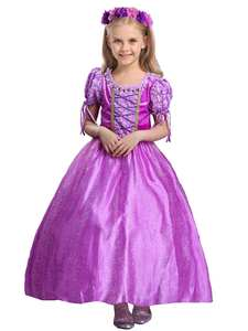 Toddler Girl Dresses Rapunzel-Dressing-Up Sofia Princess Party Cosplay Children