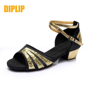 DIPLIP hot new children's Latin dance shoes girls dance hall tango girls salsa low with GB dance shoes