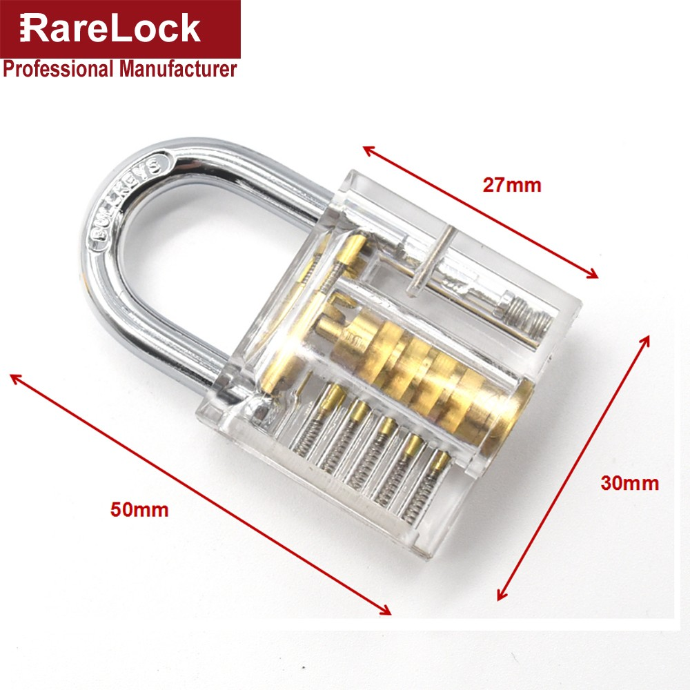 Rarelock Locksmith Lock Pick Tools Set Transparent Visible Pick - Ruční nářadí - Fotografie 3