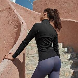 Image 5 - Women Running Jackets Long Sleeve For Gym Fitness Jogging Sweatshirt Ladies Yoga Sports Zipper Jacket Coat Shirts Womens Clothi