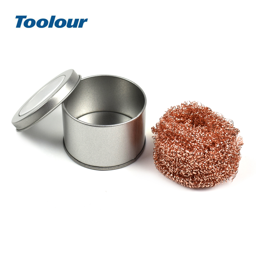 Toolour Electric Soldering Iron Tip Cleaner Cleanning Steel Wire With Stand Auxiliary Welding Accessories Repair Solder Tool