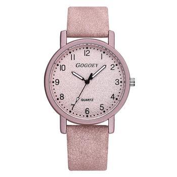 Retro Scrub Dial Women Watches Pink Fashion Simple Vintage Leather Ladies Quartz Watch 2019 Qualities Casual Female Wristwatches