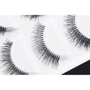 Image 4 - 5 Pairs Natural Black Long Sparse Cross False Eyelashes Fake Eye Lashes Extensions Makeup Tools