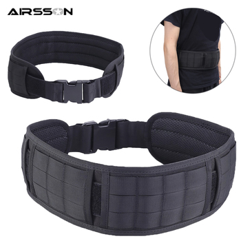 Adjustable Tactical Belt Padded MOLLE Girdle 1000D Men Army Military Duty Waist Belt Airsoft CS Combat Equipment for Hunting totrait tactical hunting molle battle belt military combat padded patrol belt for men waist support black tan green