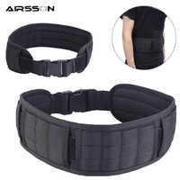 Adjustable Tactical Belt Padded MOLLE Girdle 1000D Men Army Military Duty Waist Belt Airsoft CS Combat Equipment for Hunting