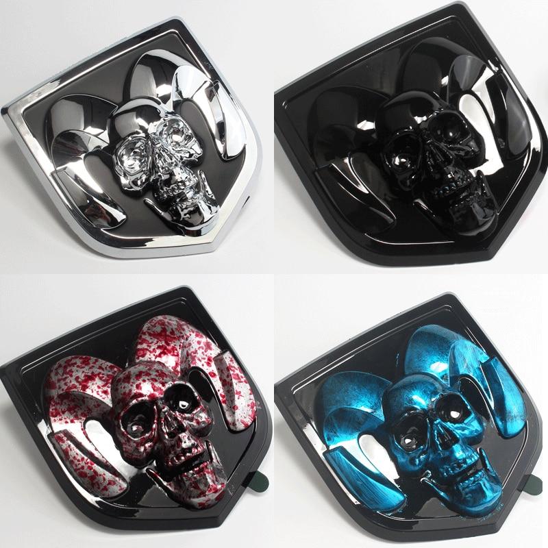 cheapest Auto Emblem For Dodge Skull 2010-2018 Ram 1500 2500 3500 Heavyduty SRT SXT 2019 Ram 1500 ABS Front Rear Tail Sticker Exterior