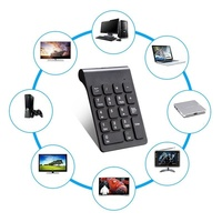pc עם 2.4G Wireless מספר Pad USB מקלדת דיגיטלי עם 19 מפתחות מיני הספרות בלוח מקשים למחשב נייד מחשב נייד מקלדת מחשב PC (4)