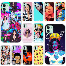 Hot Pop Cardi B Zachte Siliconen Transparant Case Voor Apple Iphone 11 Pro Xs Max X Xr 6 6S 7 8 Plus 5 5S Se Fashion Cover(China)