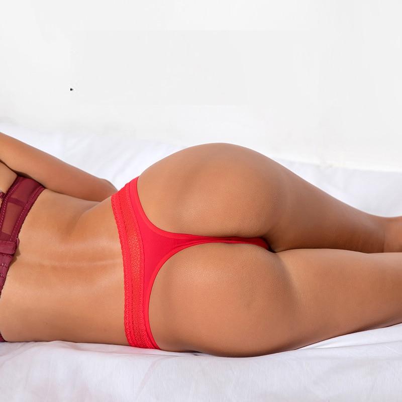 Sexy Thongs Yoga Shorts Women Antibacterial Cotton Seamless Sports Thong Low Waist Fitness Shorts Triangle Panties Underwear