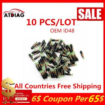 10 sztuk partia ID48 ID 48 szklany Transponder Chip wysokiej jakości klucz transponder chip id48 crypto chip tanie i dobre opinie without CN (pochodzenie) within 48 hours