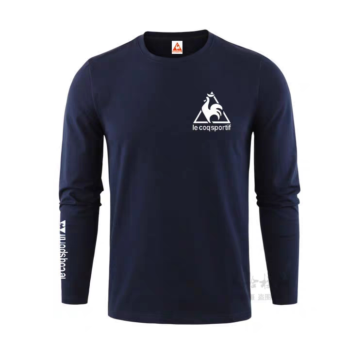 New Le Coq Sportif Summer Casual Breathable Men's Short-Sleeved Pure Cotton Round Neck Fashion T-Shirt Men's Solid Color T-Shirt