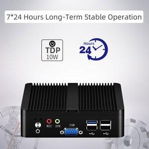 Image 4 - YCSD 팬리스 미니 PC 듀얼 LAN 셀러론 N2810 J1900 미니 컴퓨터 2 * 기가비트 LAN Windows 7 10 WIFI HDMI USB 데스크탑 마이크로 Htpc Nuc