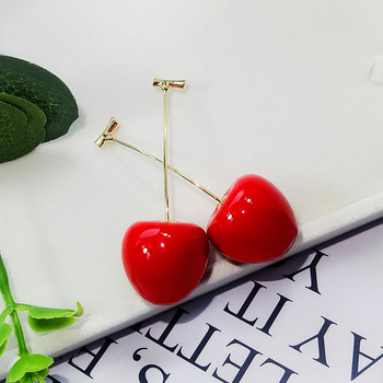 2020 New red cherry earrings for women cute earings Senior luxury earrings trendy korea jewelry.jpg 350x350 - 2020 New red cherry earrings for women cute earings Senior luxury earrings trendy korea jewelry