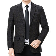 Blazer Costume Suit-Jackets Business Office Male Handsome Casual Fashion Single-Breasted