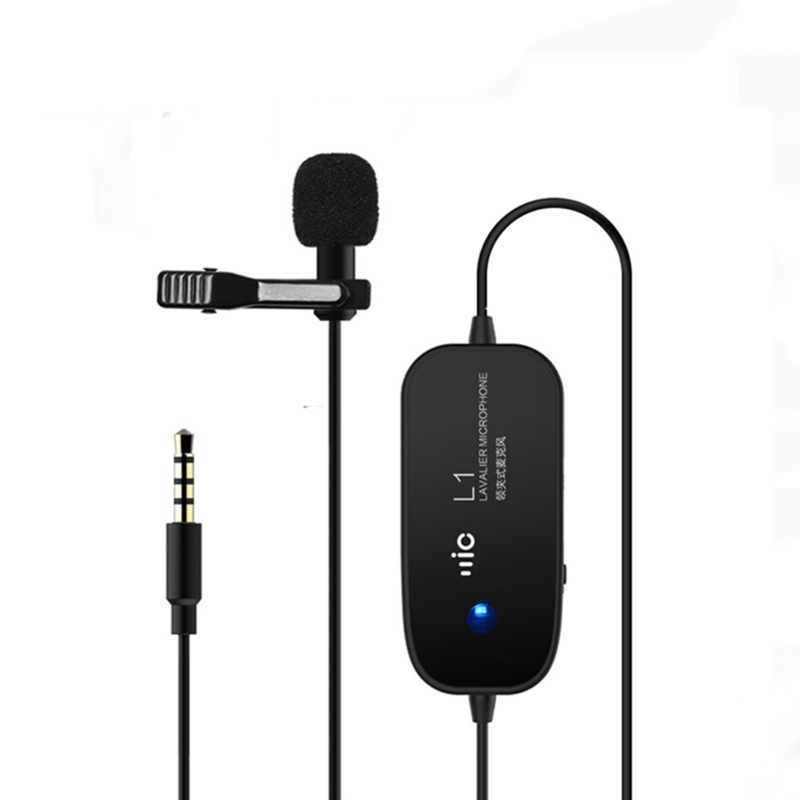 Lavalier Microphone Clip Lapel Mic For Iphone Smartphones Nikon Canon Camera Camcorder 3.5Mm Jack Vedio Recording|Microphone Accessories| |  - title=