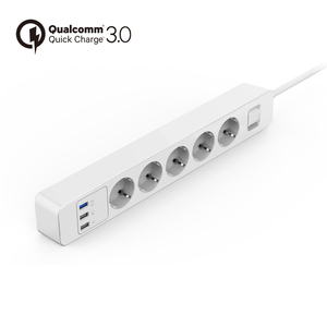 Image 2 - 전원 스트립 3/4/5 AC 콘센트 소켓 EU 플러그 서지 보호기 3 USB QC3.0 고속/급속/급속 충전기 및 1.5m 연장 케이블