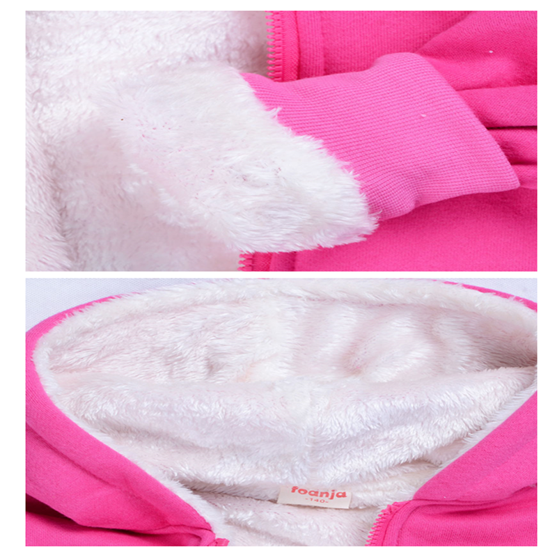 Image 3 - Children thickened Hoodies fleece bear suit cotton thicker coat  childrens clothing sets winter models for boys girls