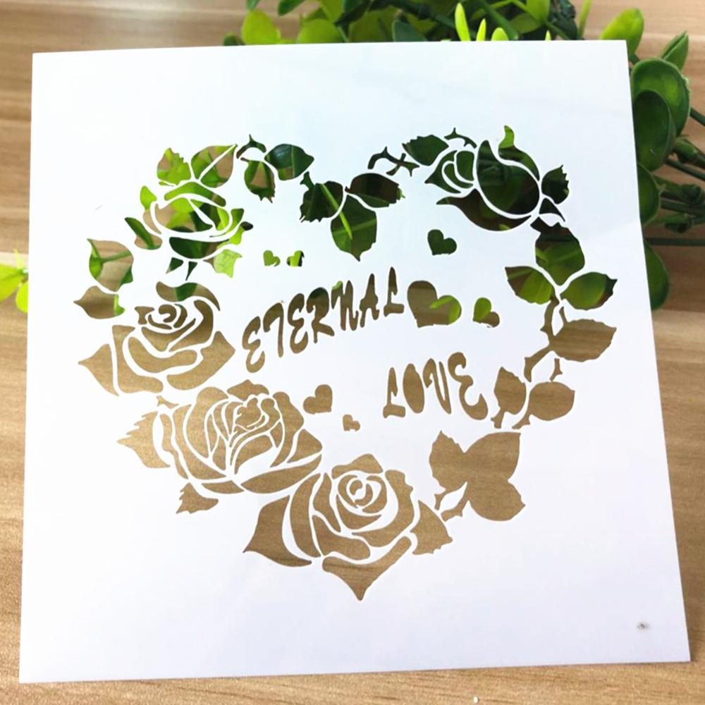 Stencil Lovers Heart-Shaped Hollow Layering Stencils For Wall Painting Scrapbooking Stamping Album Decorative Embossing Template