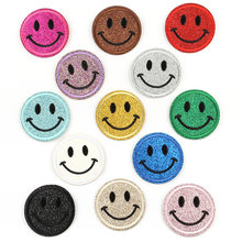 Hot Sale Smiley Face Patch Cloth Stickers Computer Embroidery Cute Expression Clothing Accessories Stickers Iron on Patch