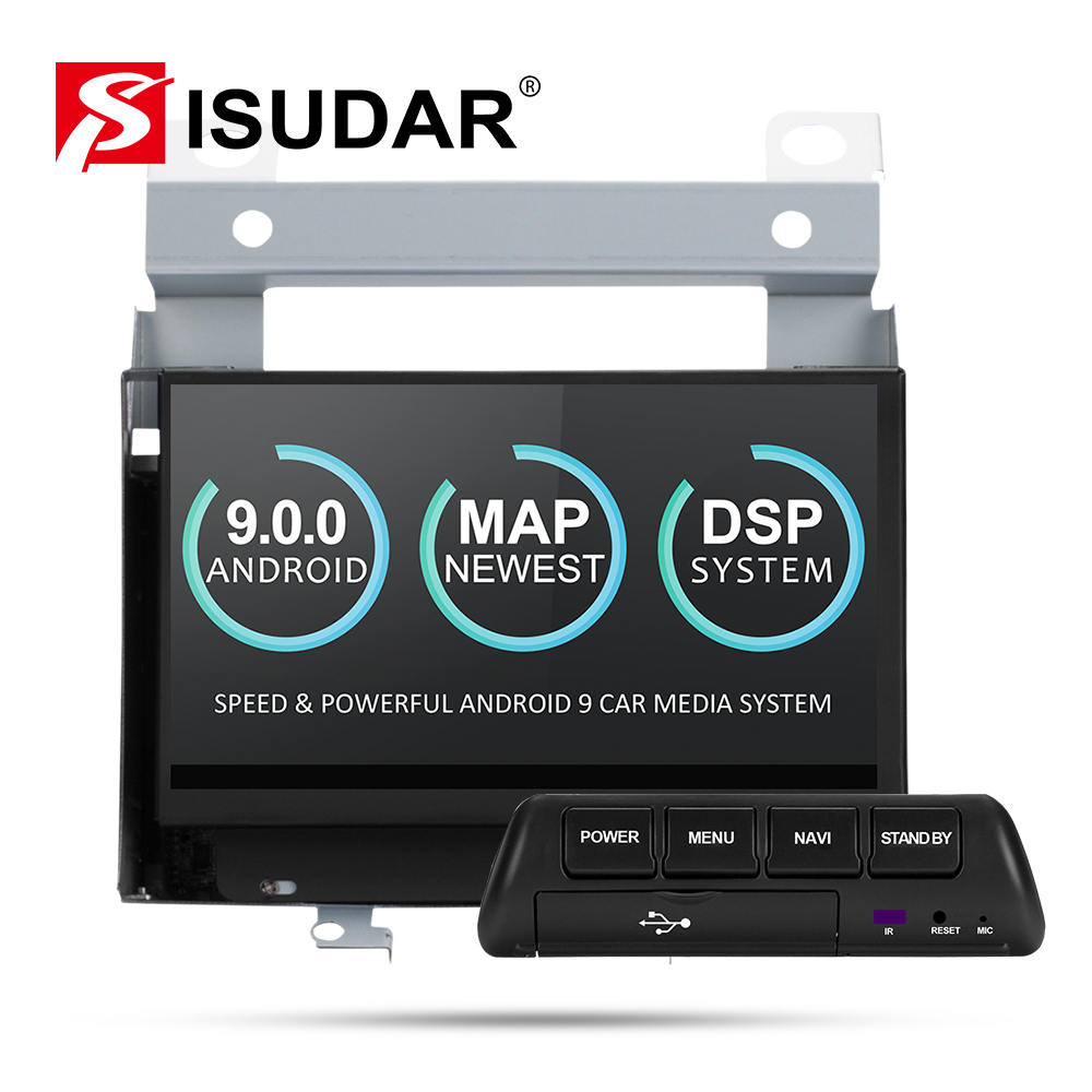 Reprodutor multimídia Carro Din Android 9 2 Isudar Para Land Rover/Freelander 2 2007-2012 Rádio GPS Automotivo wi-fi Quad Core DVR DSP