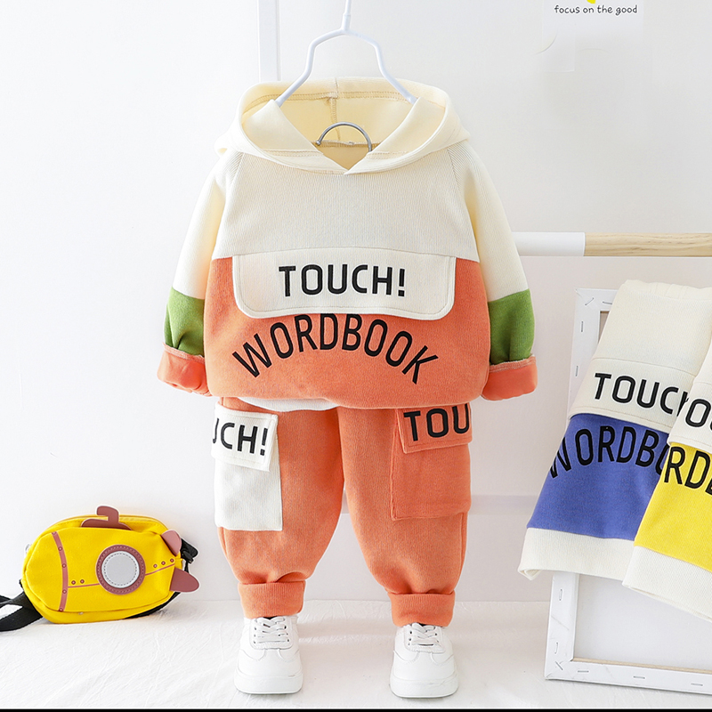 New Toddler Boy Hooded Letter Clothes Set Casual Sport 2020 New Spring Baby Boys Clothing Outwear
