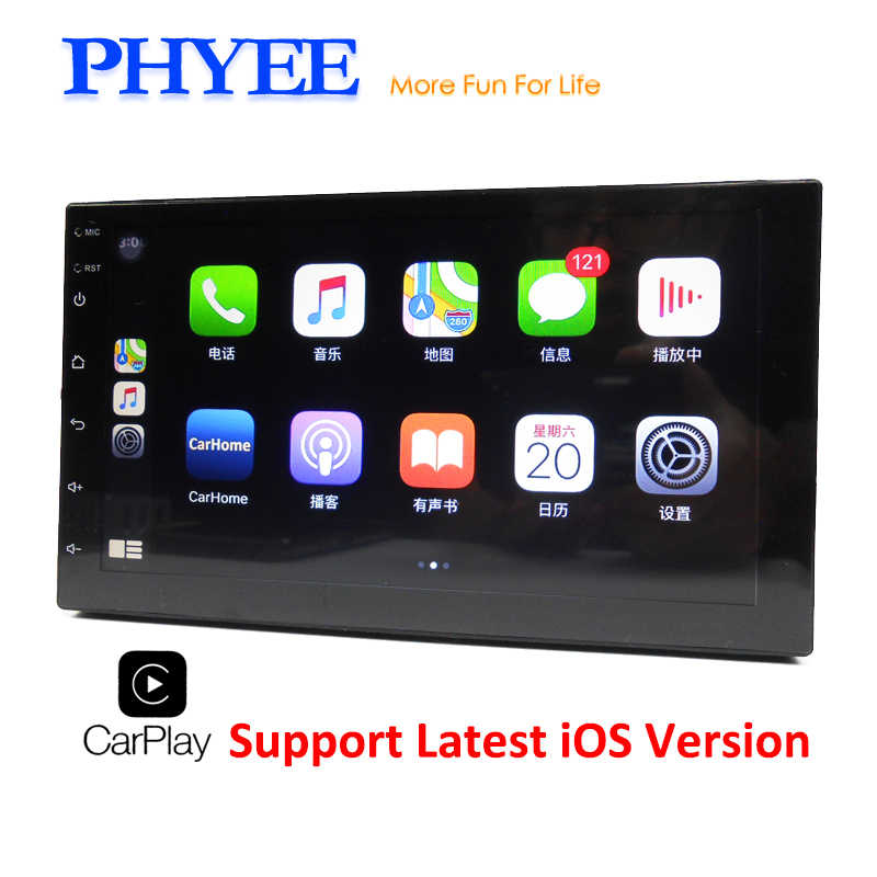 Autoradio 2 Din Apple Carplay Navigatie Spiegel Link MP5 Speler Bluetooth Handsfree A2DP Dubbele Usb Stereo System Head Unit x3