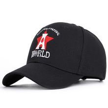 цена 2019 new cross-border letter Astroworld Hat Festival Hat baseball cap red five-pointed star