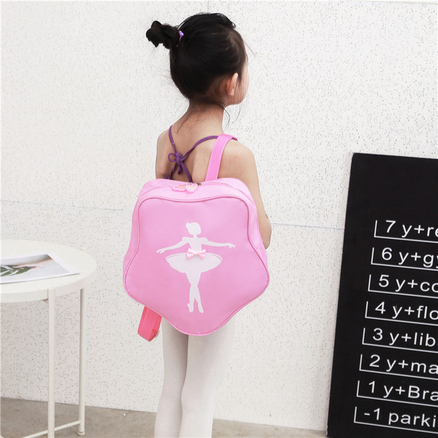 Pink Yoga Bags Design For Girls Printed Child Backpack For Ballerina Kids Bags Ballet Bag Princess Bags