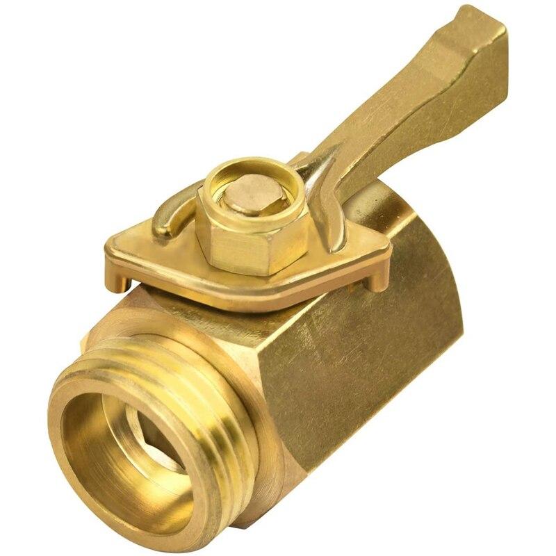 Hose Shut Off Valve, 3/4 Inch Brass Garden Hose Shut Off Valve Faucet Heavy Duty Water Flow Control Hose Connector