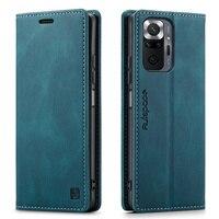 Luxus Leder Brieftasche Flip Fall Für Xiaomi Redmi Hinweis 10 Pro Max Telefon Fall Magnetische Brieftasche Abdeckung