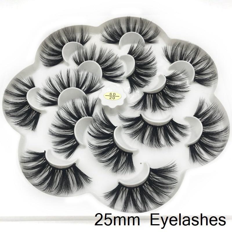ICQUEEN Lashes 3D Mink Eyelashes Handmade Mink Lashes 25mm cruelty-free Lightweight False Eyelashes Dramatic Lashes Makeup 6D