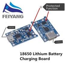 Módulo de cargador de batería de litio con protección, placa de carga Micro USB 5V 1A 18650 TP4056 con funciones duales 1A Li-ion, 10 Uds.