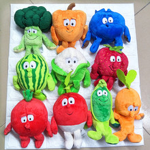 Фрукты овощи серии клубника брокколи банан арбуз вишня банан гриб мягкая плюшевая кукла игрушка