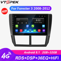 Vtopek For Subaru Forester 3 2008 2009 2010 2011 2012 Car Radio 9 RDS Wifi autoradio Android Touch screen Navigation GPS 2 din