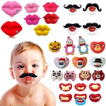 54 colores/silicona de grado alimenticio chupetes divertidos para bebés mordedores de pezón para bebés chupete de ortodoncia para bebés regalo