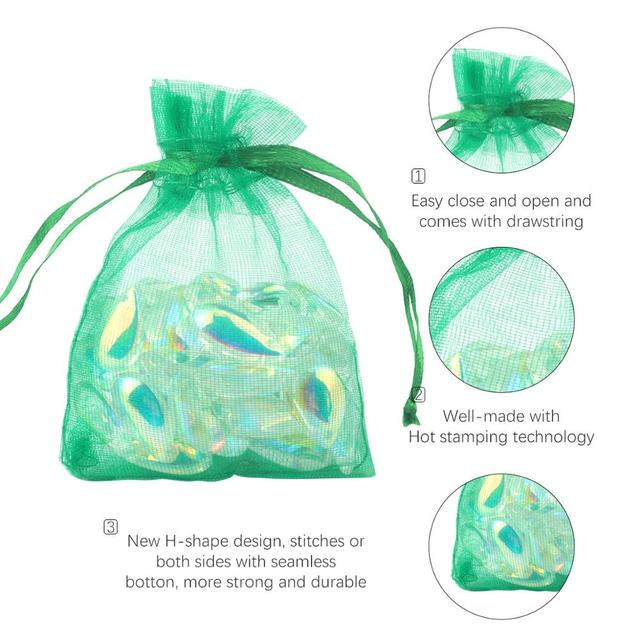 100pcs/lot Organza Bag 5*7cm,7*9cm,9x12cm Christmas Wedding Bag Candy Bags Gift Pouches Jewelry Packaging Display 23 Colors 4
