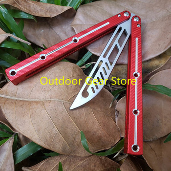 Theone Bushing System Butterfly Kraken Sea Monster Channel Aluminum Handle Hunting Trainer Knife Tactical Hunting  Edc Knife 4