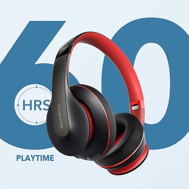 Anker Soundcore Life Q10 Wireless Bluetooth Headphones Over Ear and Foldable Hi Res Certified Sound 60