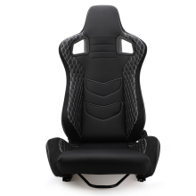 1Pcs Car Racing Seats Verstelbare Black Pvc Lederen Leunen Emmer Sport Zetels Universele