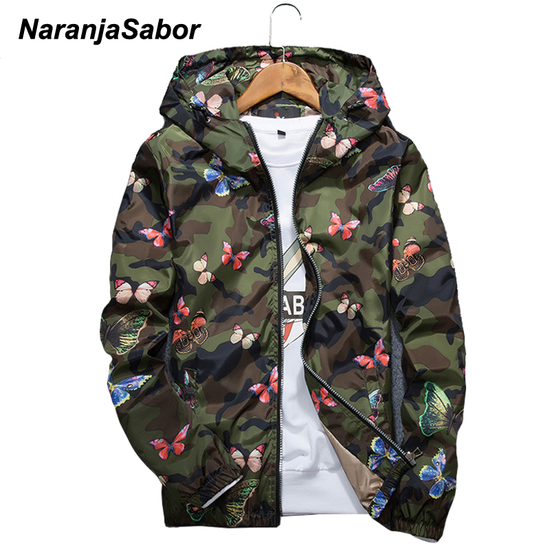 NaranjaSabor Spring Autumn Mens Casual Camouflage Cool Jacket Men Clothes Men Windbreaker Coat Male Outwear Brand Clothing N549