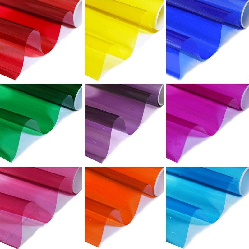80X100cm Decoratieve film Gekleurde glasfilm Veelkleurige Raamsticker gekleurd glas Windom Tint Films Raamfolie